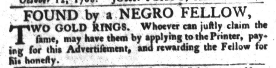 Nov 1 - South-Carolina Gazette and Country Journal Supplement Slavery 2