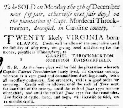 Nov 10 - Virginia Gazette Purdie and Dixon Slavery 6