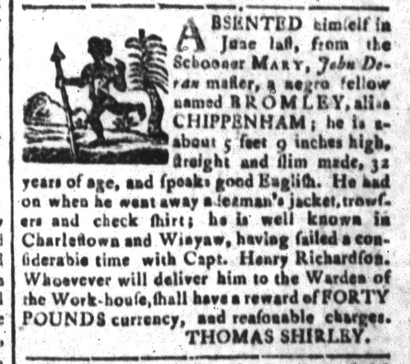 Nov 11 - South-Carolina and American General Gazette Slavery 6