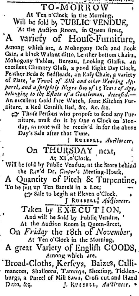 Nov 14 - Boston Evening-Post Slavery 2
