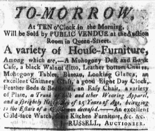 Nov 14 - Massachusetts Gazette Green and Russell Slavery 1