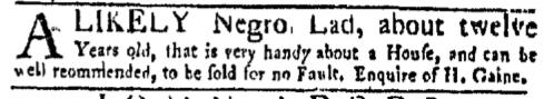 Nov 14 - New-York Gazette Weekly Mercury Supplement Slavery 2