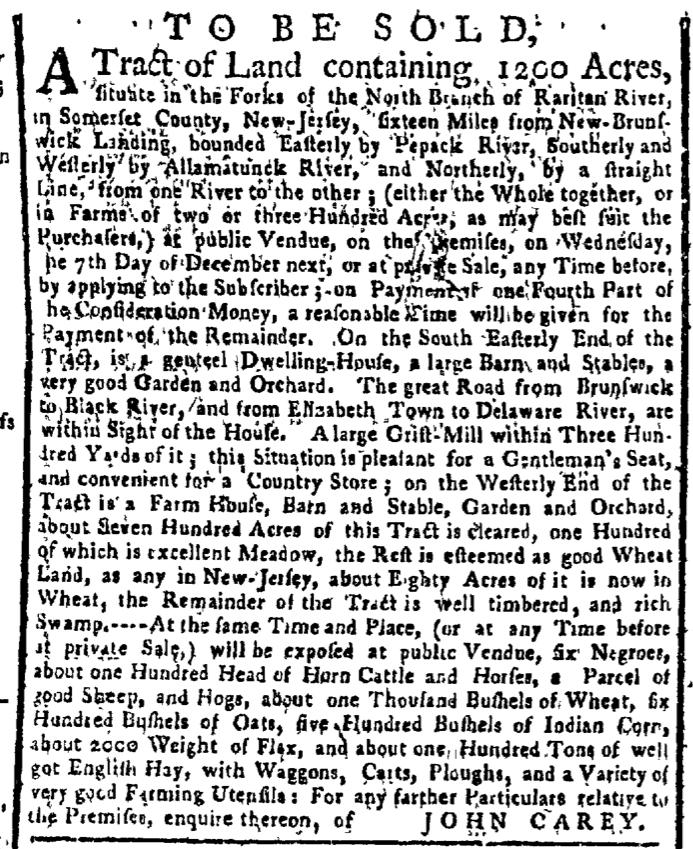 Nov 14 - New-York Gazette Weekly Post-Boy Slavery 2