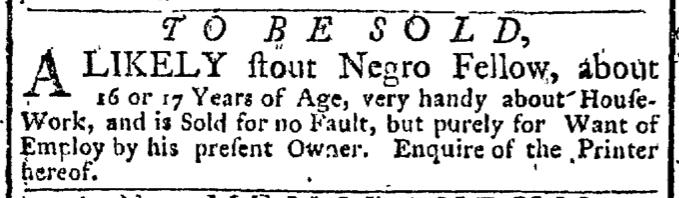 Nov 14 - New-York Gazette Weekly Post-Boy Slavery 3