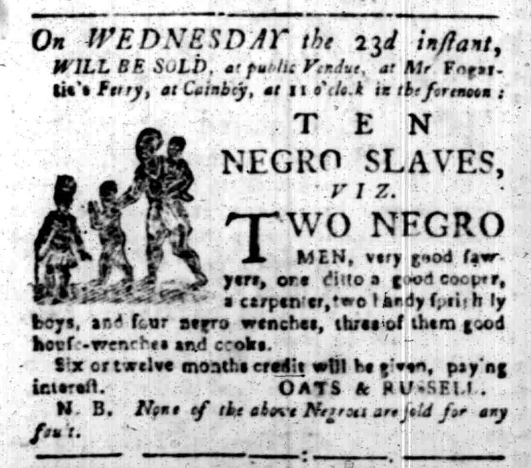 Nov 14 - South-Carolina Gazette Slavery 2