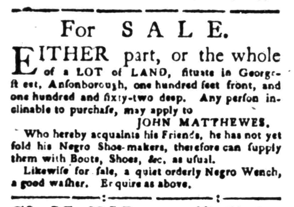 Nov 14 - South-Carolina Gazette Slavery 4