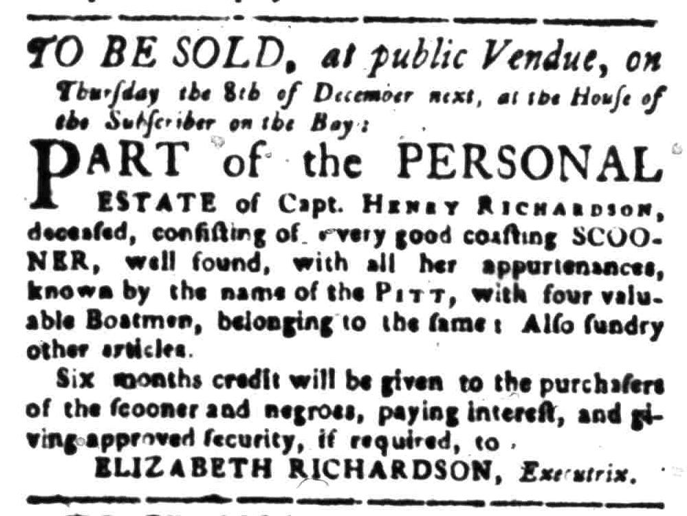 Nov 14 - South-Carolina Gazette Slavery 6