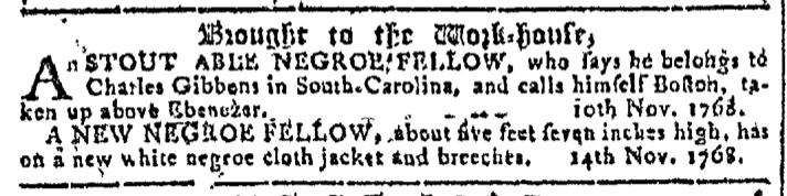 Nov 16 - Georgia Gazette Slavery 1