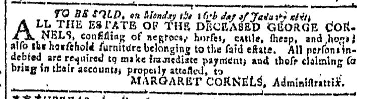 Nov 16 - Georgia Gazette Slavery 4