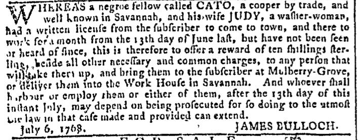 Nov 16 - Georgia Gazette Slavery 8