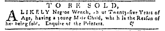 Nov 17 - Pennsylvania Gazette Supplement Slavery 1