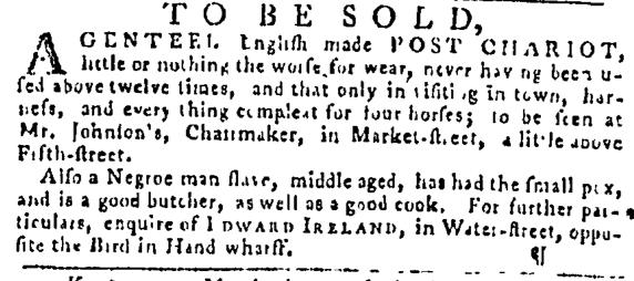 Nov 17 - Pennsylvania Gazette Supplement Slavery 2