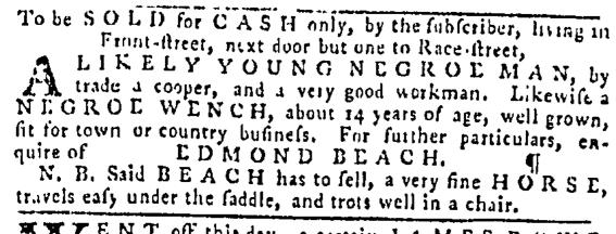 Nov 17 - Pennsylvania Gazette Supplement Slavery 3