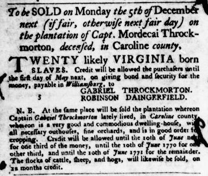 Nov 17 - Virginia Gazette Purdie and Dixon Slavery 10