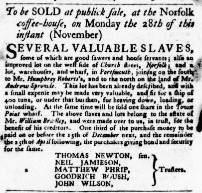 Nov 17 - Virginia Gazette Purdie and Dixon Slavery 2