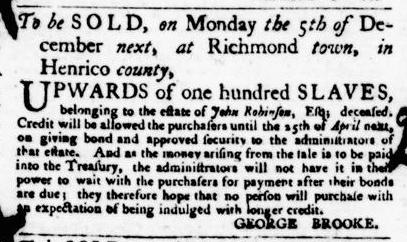 Nov 17 - Virginia Gazette Purdie and Dixon Slavery 5