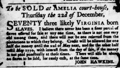 Nov 17 - Virginia Gazette Purdie and Dixon Slavery 9