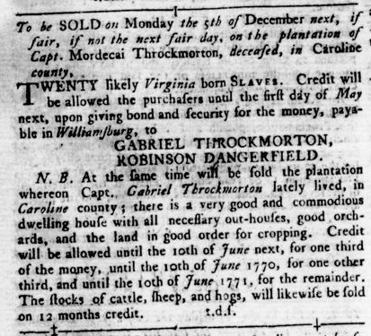 Nov 17 - Virginia Gazette Rind Slavery 12