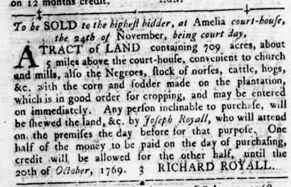 Nov 17 - Virginia Gazette Rind Slavery 13