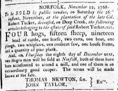 Nov 17 - Virginia Gazette Rind Slavery 3