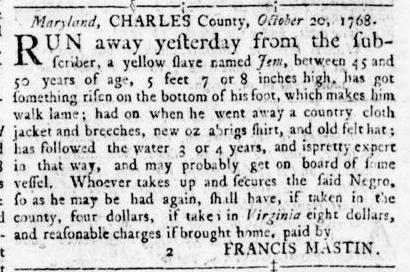 Nov 17 - Virginia Gazette Rind Slavery 9