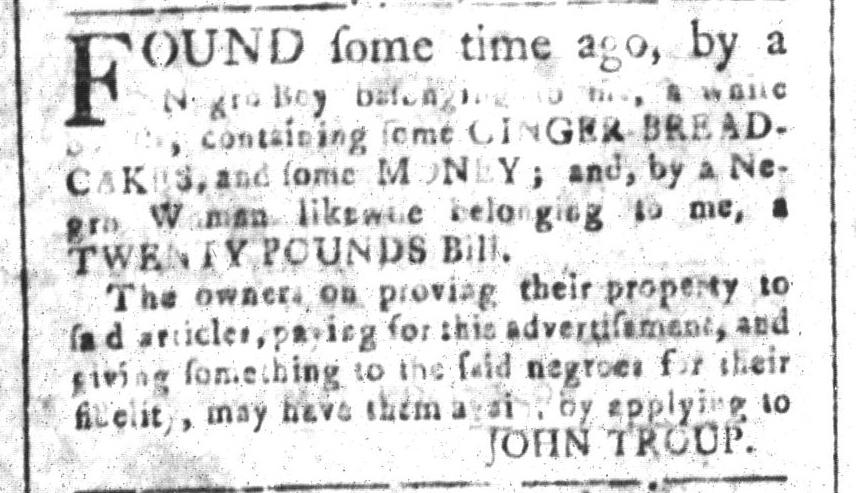 Nov 18 - South-Carolina and American General Gazette Slavery 10