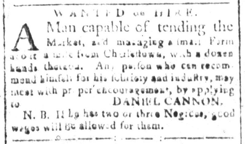 Nov 18 - South-Carolina and American General Gazette Slavery 3