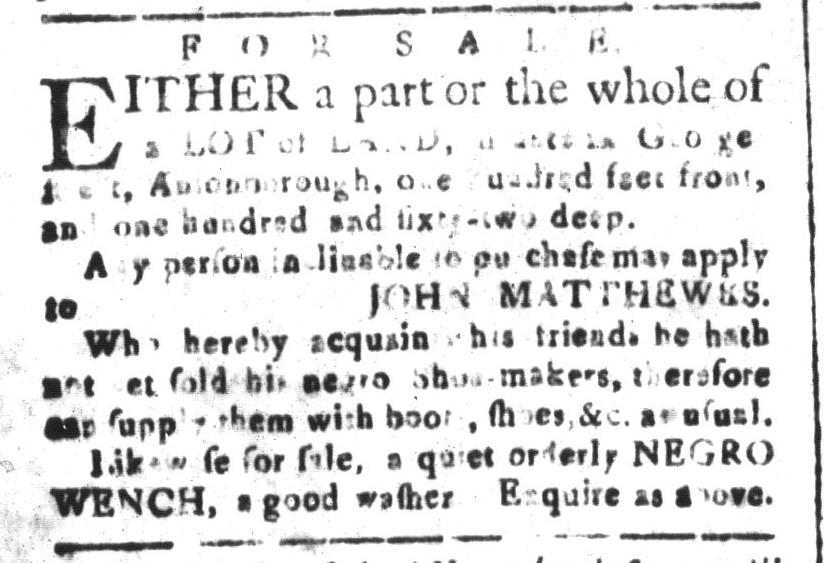 Nov 18 - South-Carolina and American General Gazette Slavery 5