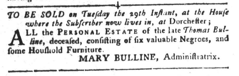 Nov 22 - South-Carolina Gazette and Country Journal Slavery 11