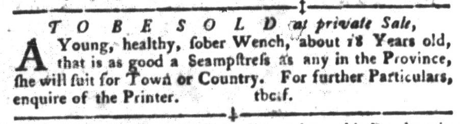 Nov 22 - South-Carolina Gazette and Country Journal Slavery 4