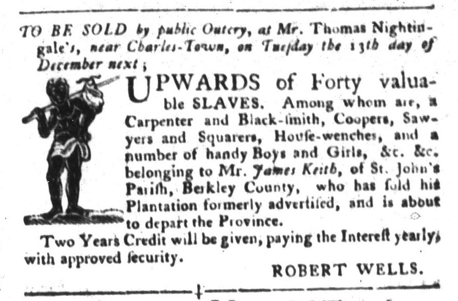 Nov 22 - South-Carolina Gazette and Country Journal Slavery 5