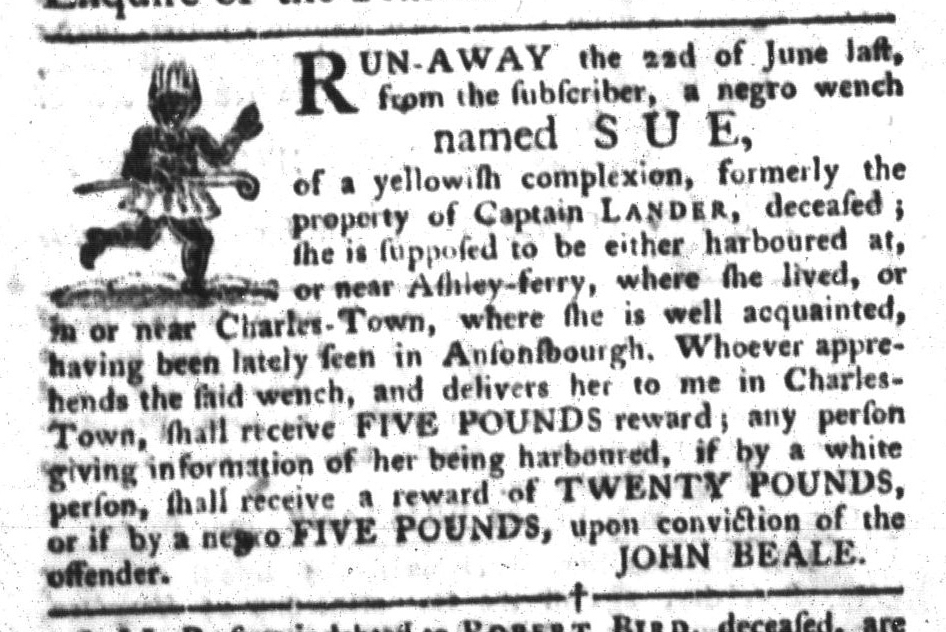 Nov 22 - South-Carolina Gazette and Country Journal Slavery 7