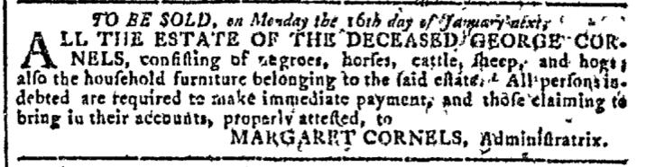 Nov 23 - Georgia Gazette Slavery 2