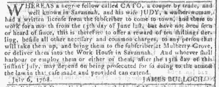Nov 23 - Georgia Gazette Slavery 5