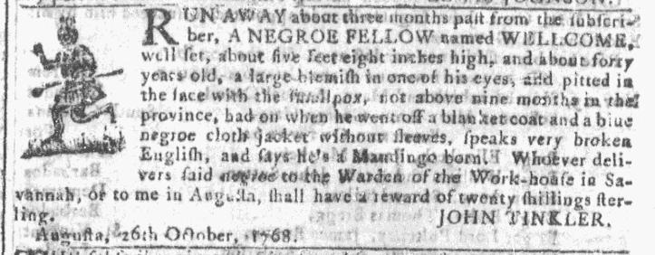 Nov 23 - Georgia Gazette Slavery 7