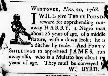 Nov 24 - Virginia Gazette Purdie and Dixon Slavery 1