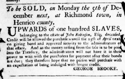 Nov 24 - Virginia Gazette Purdie and Dixon Slavery 10