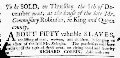 Nov 24 - Virginia Gazette Purdie and Dixon Slavery 12