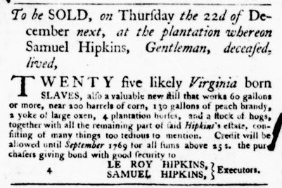 Nov 24 - Virginia Gazette Purdie and Dixon Slavery 4