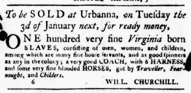 Nov 24 - Virginia Gazette Purdie and Dixon Slavery 5
