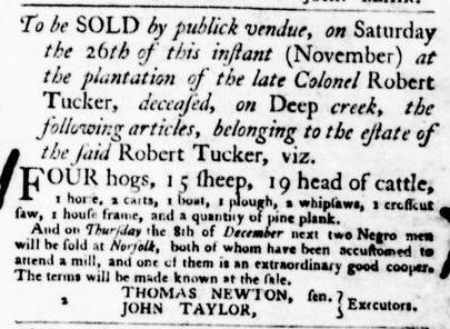 Nov 24 - Virginia Gazette Purdie and Dixon Slavery 7