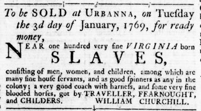 Nov 24 - Virginia Gazette Rind Slavery 1