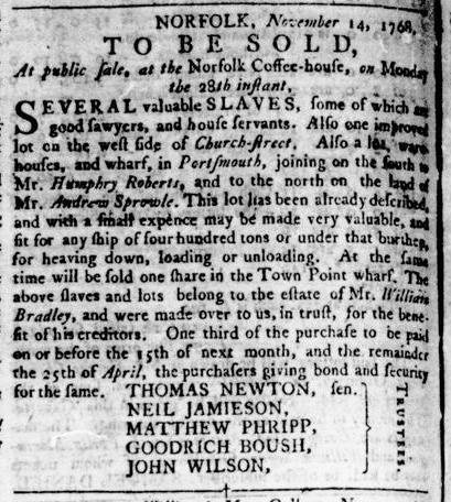 Nov 24 - Virginia Gazette Rind Slavery 10