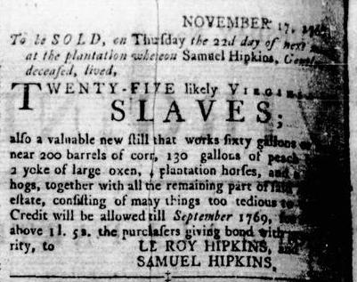 Nov 24 - Virginia Gazette Rind Slavery 2