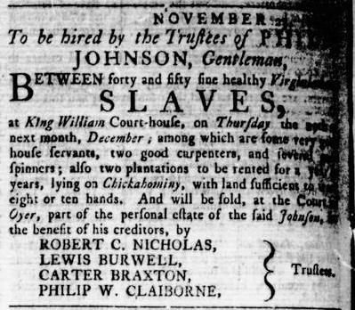 Nov 24 - Virginia Gazette Rind Slavery 3