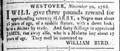 Nov 24 - Virginia Gazette Rind Slavery 5