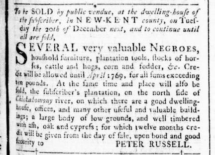 Nov 24 - Virginia Gazette Rind Slavery 6