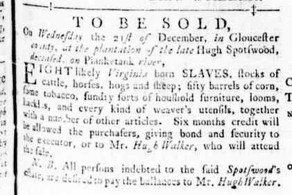 Nov 24 - Virginia Gazette Rind Slavery 7