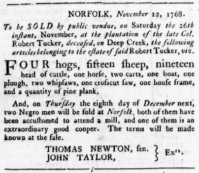 Nov 24 - Virginia Gazette Rind Slavery 9