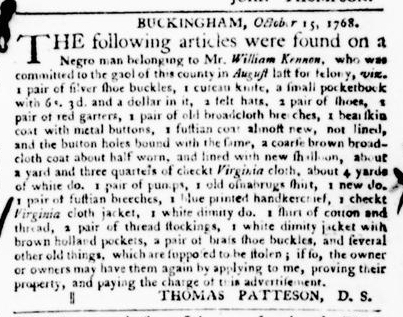 Nov 3 - Virginia Gazette Purdie and Dixon Slavery 8